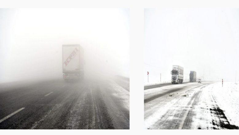 Tendürek'te Kar Ve Sis Etkili Oluyor