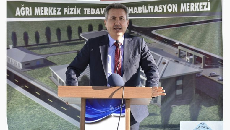 Ağrı'da Fizik Tedavi Hastanesi Temel Atma Töreni Gerçekleştirildi