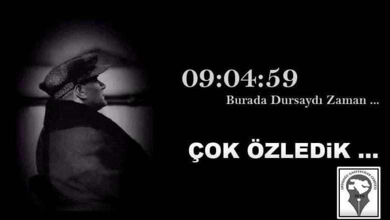 OGC Başkanı Aydın'ın 10 Kasım Atatürk'ü Anma Mesajı
