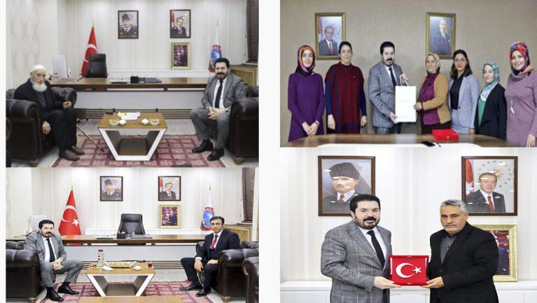 Başkan Sayan'a Hayırlı Olsun Ziyaretleri Yoğunlukla Devam Ediyor