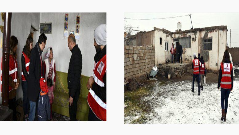 Ağrı'da Kara Gün Dostu Türk Kızılay'ından Yardım Eli