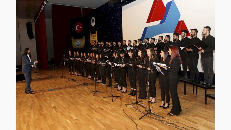 Ağrı İbrahim Çeçen Üniversitesi'nde Polifonik Koro Konseri Düzenlendi