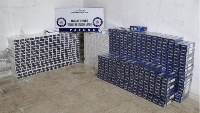 Ağrı Emniyeti 12 bin 820 Paket Kaçak Sigara Ele Geçirdi