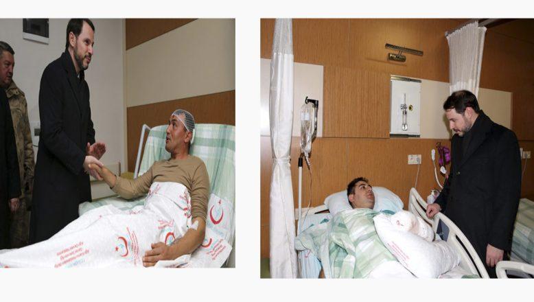 Bakan Albayrak, Tutak'ta Yaralanan Askerleri Ziyaret Etti