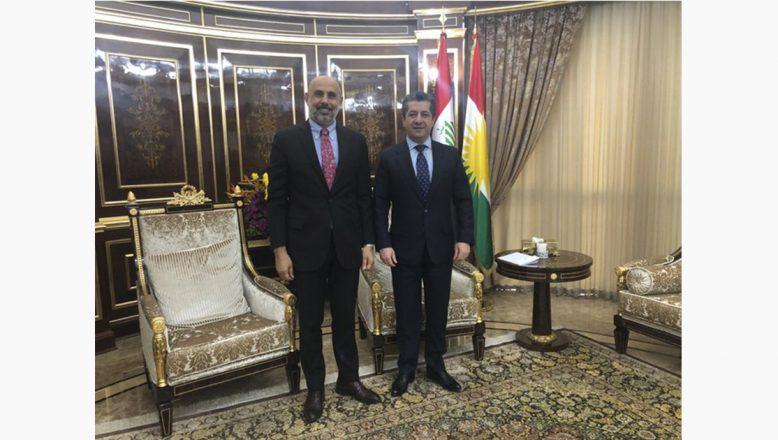 Cemal Kaya'dan,IKBY Başbakanı Mesrur Barzani'ye Ziyaret