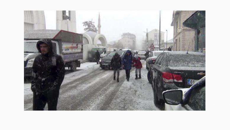 Ağrı'da Başlayan Kar Yağışı Etkili Oluyor