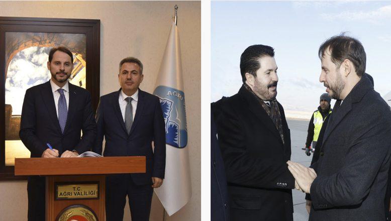 Bakan Albayrak'tan Vali Elban ve Başkan Sayan'a Ziyaret