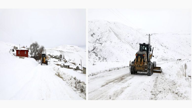 AĞRI-Doğubayazıt'ın 2 Metre Karla Kapanan Köy Yolları Ulaşıma Açıldı!