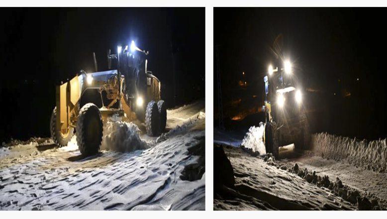 Ağrı'nın karla kapanan 30 dağ köyü yolları kar timlerince ulaşıma açıldı