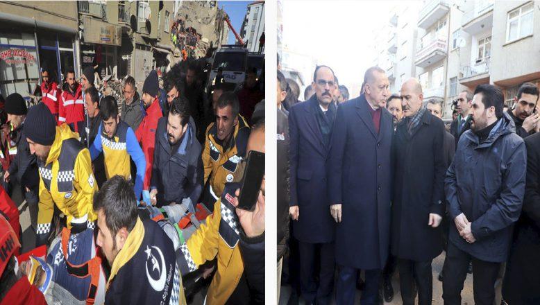 Ağrı Belediye Başkanı Savcı Sayan, Deprem Bölgesinde Çalışmalara Katıldı