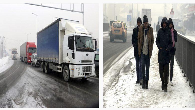 Ağrı'da Kar Yağışı Etkisini Sürdürüyor