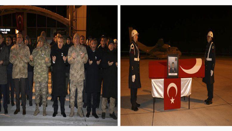 Ağrı'da Şehit Olan Asker Toptaş'ın Naaşı  Dualarla Ankara'ya Uğurlandı