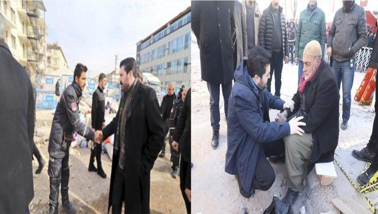 Ağrı Belediye Başkanı Sayan, Elazığ Deprem Bölgesinde Çalışmalarına Devam Ediyor