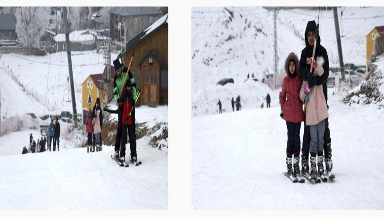 Ağrı'daki Küpkıran Kayak Merkezinde, Kayak Sezonu Açıldı