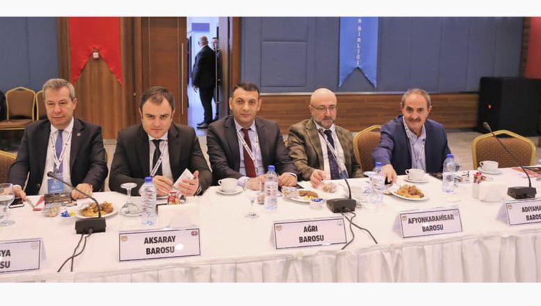 Ağrı Baro Başkanı Av.M. Salih Aydın, 40.Baro Başkanları Toplantısına Katıldı