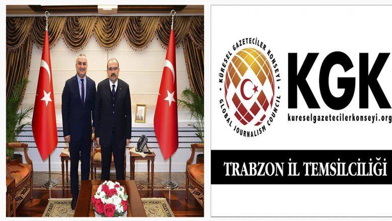 Trabzon Valisi Ustaoğlu'ndan Külekçi'ye Tebrik