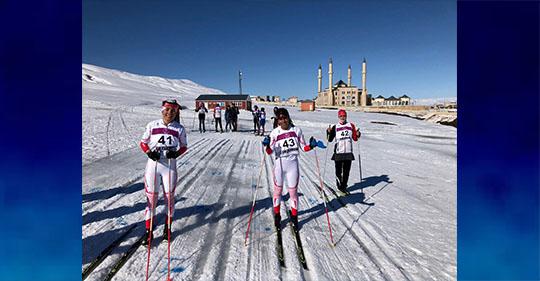 AİÇÜ'lü Öğrenciler Kayaklı Koşu Türkiye Şampiyonası'ndan dereceyle döndüler