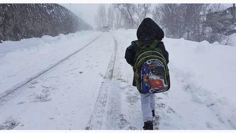 Ağrı'da  taşıma kapsamındaki köy okullarında bir gün kar tatili ilan edildi!