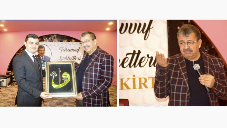 """Yazar Hayati İnanç, Eleşkirt'te """"Can Veren Pervaneler"""" konulu konferans verdi"""