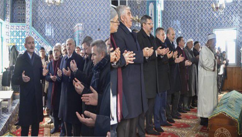 İçişleri Bakanı Soylu Ağrı'da Siyasetçi A.İ.Varol'un Cenaze Törenine Katıldı