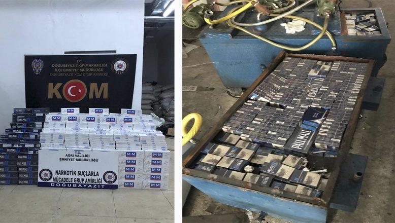 Ağrı'da yapılan operasyonda  240.000 TL değerinde kaçak sigara el konuldu