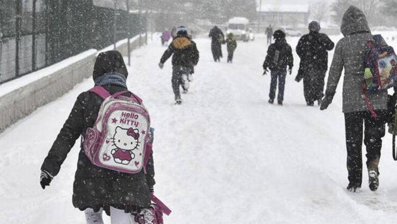 Ağrı'da yoğun kar, tipi ve fırtına nedeniyle okullar yarın tatil edildi