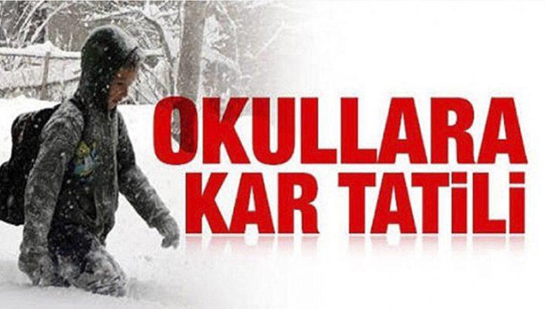 Ağrı'da Yarın (Cuma) Tüm Okullara Kar Tatili