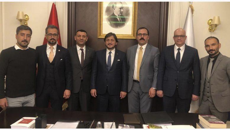 Ağrı Baro Başkanı Aydın ve beraberindeki heyetten Adalet Bakan Yardımcısı Birkan'a ziyaret
