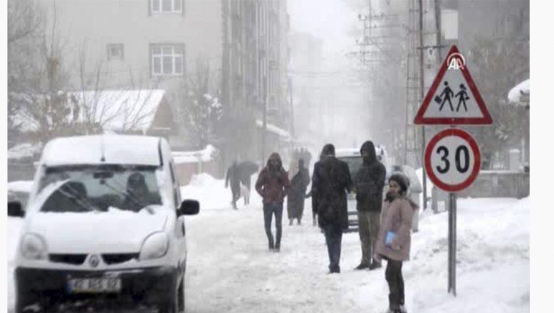 Eleşkirt'te  kar ve tipi vatandaşlara zor anlar yaşatıyor