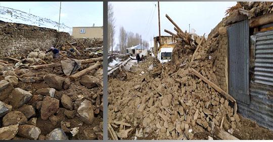 İran'da meydana gelen 5,7 şiddetindeki deprem, Türkiye'de hasara neden oldu