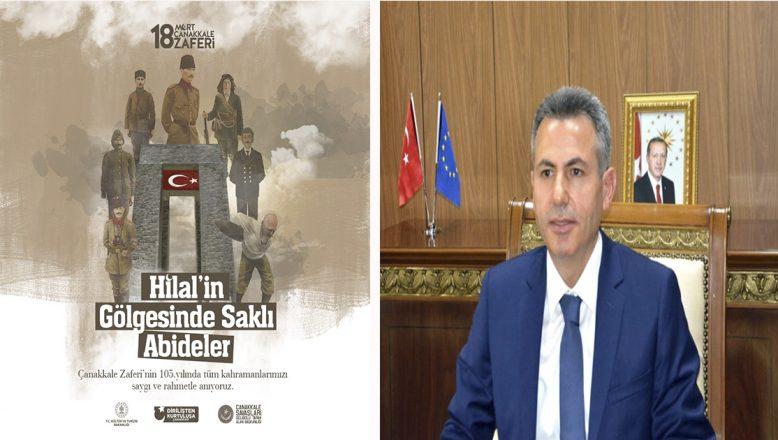 Ağrı Valisi Elban'ın 18 Mart Çanakkale Zaferi ve Şehitler Günü Mesajı