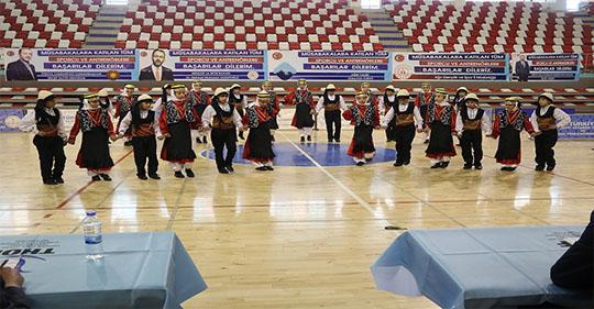 Ağrı'da Halk Oyunları İl Birinciliği Müsabakaları Yapıldı