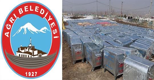 Ağrı Belediyesinden 693 Adet Yeni Çöp Konteynırı