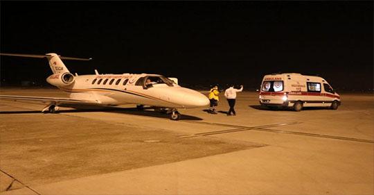 Ambulans Uçak Ağrı'dan Küçük Rojin İçin Havalandı