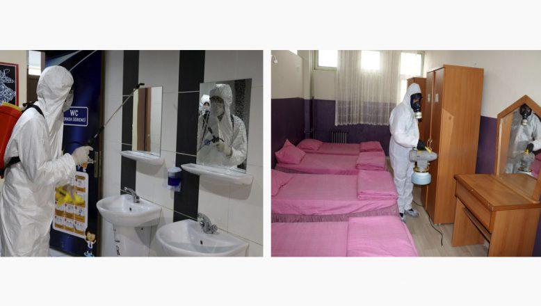 Ağrı'da 517 okul yeni tip koronavirüs salgınına karşı dezenfekte edildi