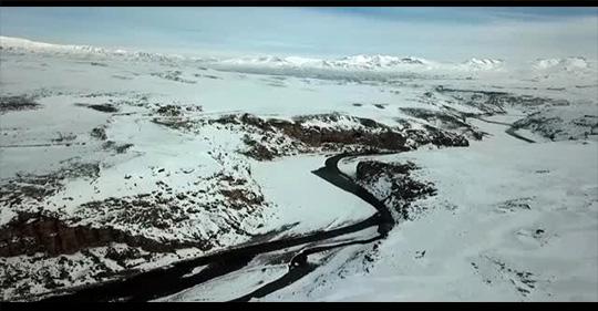 Diyadin Kanyonu'nda dev buz sarkıtları oluştu