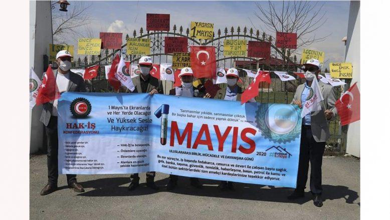 Ağrı'da 1 Mayıs dolayısıyla Hak-İş bir etkinlik düzenledi