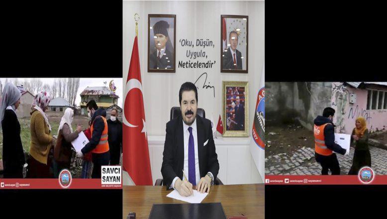 Başkan Savcı Sayan,Vefa Destek Grubunun Gönüllü Hizmet Elçisi Olarak Yardım Dağıttı