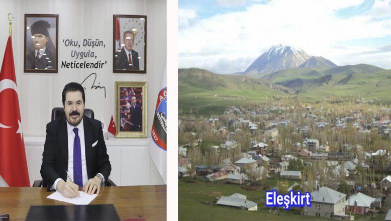 Başkan Savcı Sayan'dan Eleşkirt'in 102. Kurtuluş Yıl Dönümü Mesajı