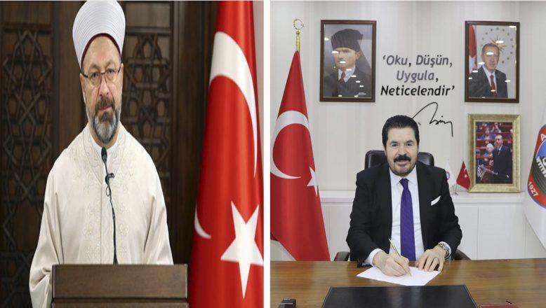 Başkan Sayan'dan, Diyanet İşleri Başkanı Erbaş'a Destek