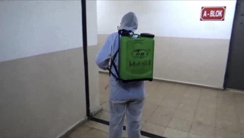 Ağrı Kapalı Ceza İnfaz Kurumunda dezenfeksiyon