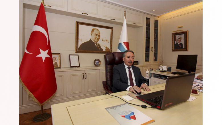 AİÇÜ Rektörü Prof. Dr. KARABULUT, YÖK Başkanı İle Telekonferans Yöntemiyle Toplantı Yaptı