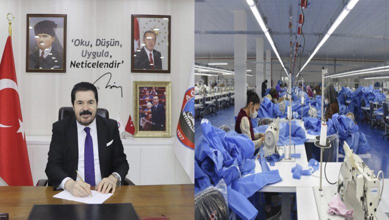 Ağrı Belediye Başkanı Sayan:Tekstil Fabrikalarımızda Günde 150/200 Yüz Bin Maske Üretimine Başladık
