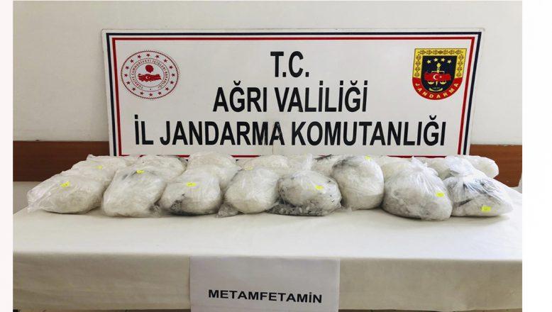 Ağrı'da 6.380.000 TL değerinde uyuşturucu ele geçirildi