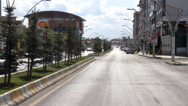 Ağrı'da sokağa çıkma yasağının ilk gününde sokak ve caddeler boş kaldı