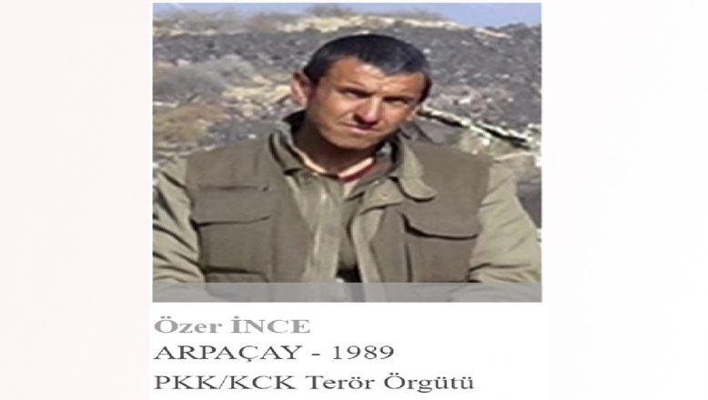 Ağrı'da etkisiz hale getirilen teröristin gri liste arandığı tespit edildi