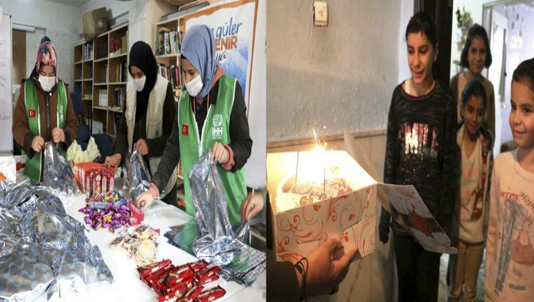 Ağrı'da İHH Yetim çocukları yaş pasta ve hediyelerle sevindirdi
