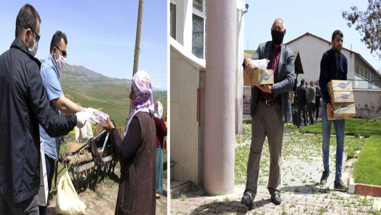 Ağrı-Tutak'ta Vefa ekibi en ücra köylerde maske ve sabun dağıtıyor