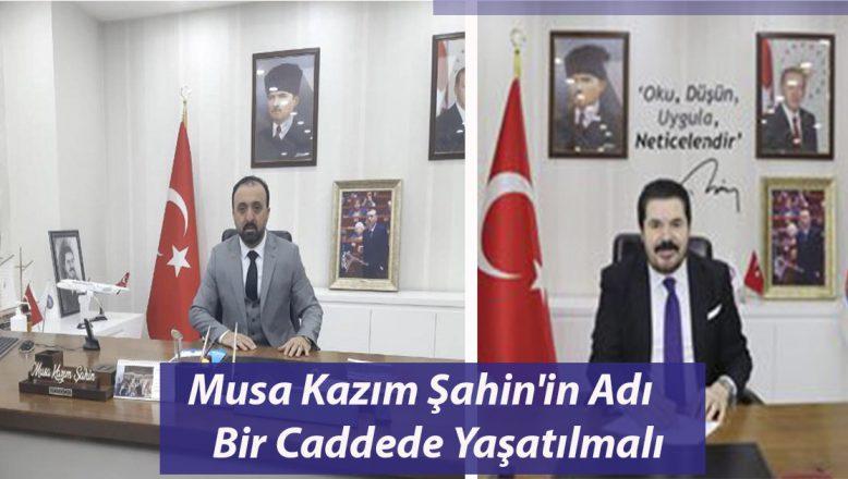 OGC, Ak Parti Belediye Meclis Üyesi Merhum Musa Kazım Şahin'ın Adı bir Caddede Yaşatılmalı!