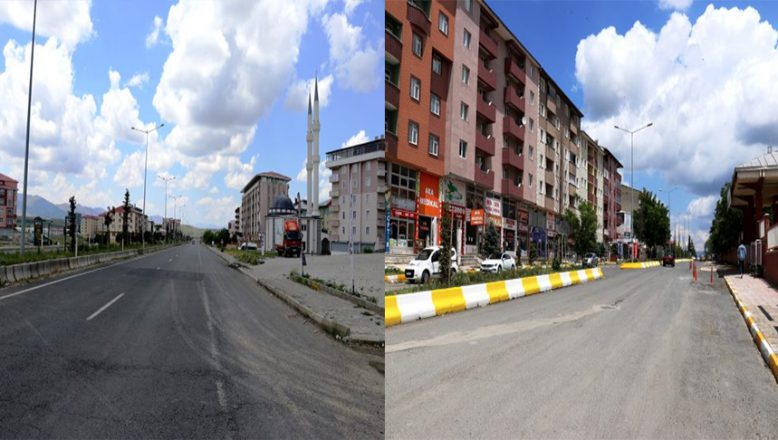 Doğu Anadolu'da sokağa çıkma kısıtlamasında cadde ve sokaklar sakin